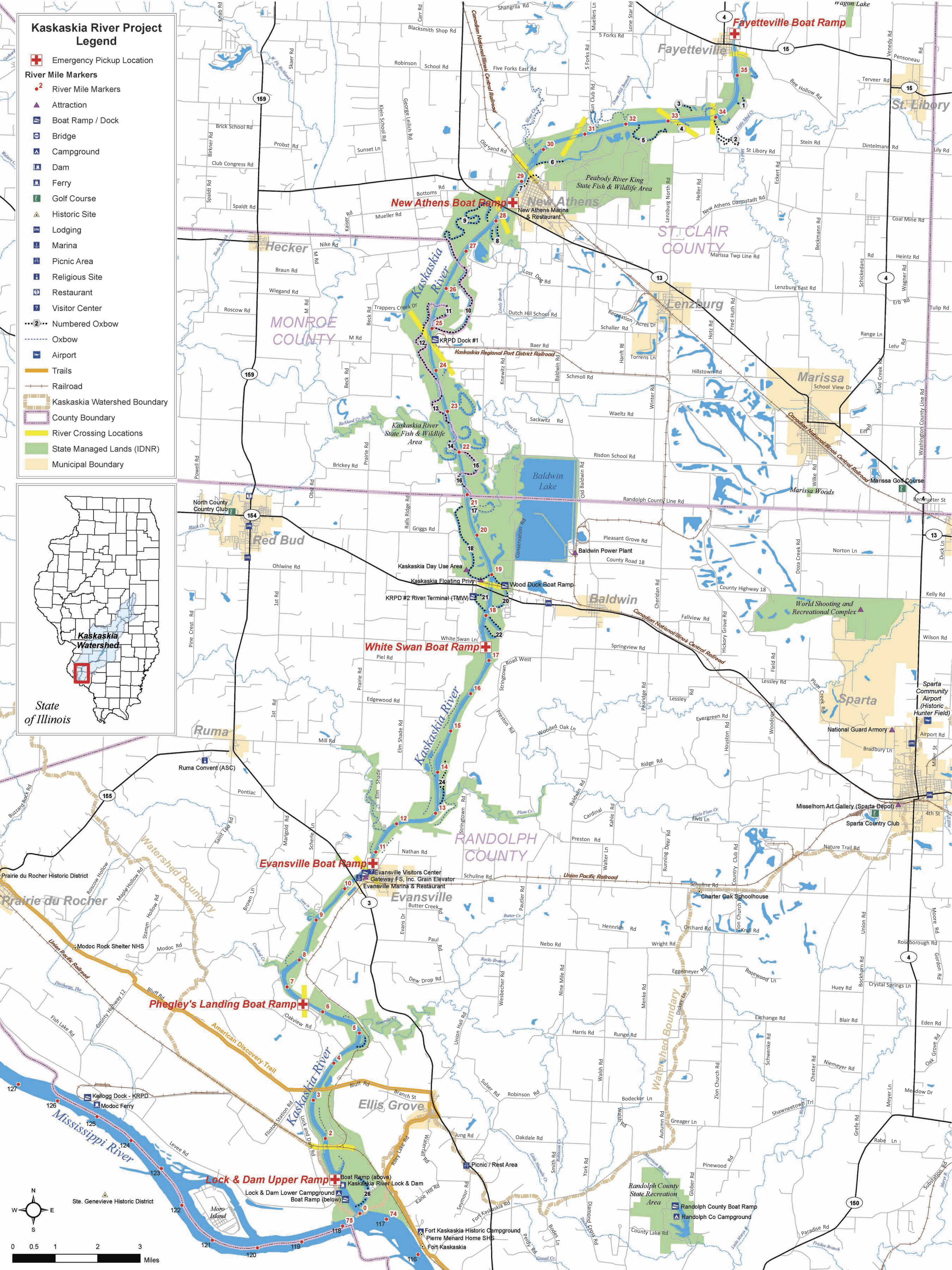 Evansville Illinois Map.St Louis District Missions Recreation Kaskaskia River Project