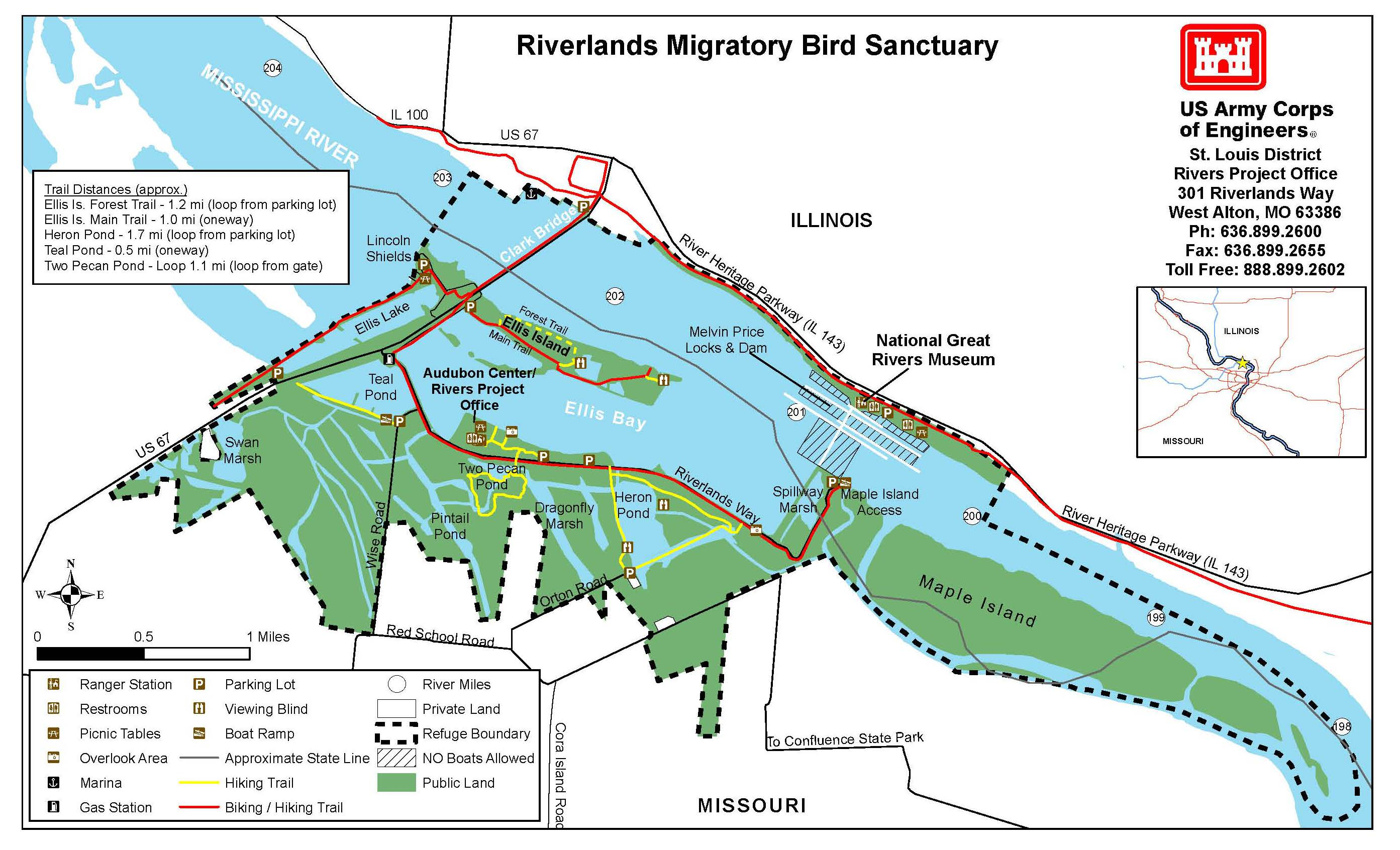 Riverlands Migratory Bird Sanctuary Map